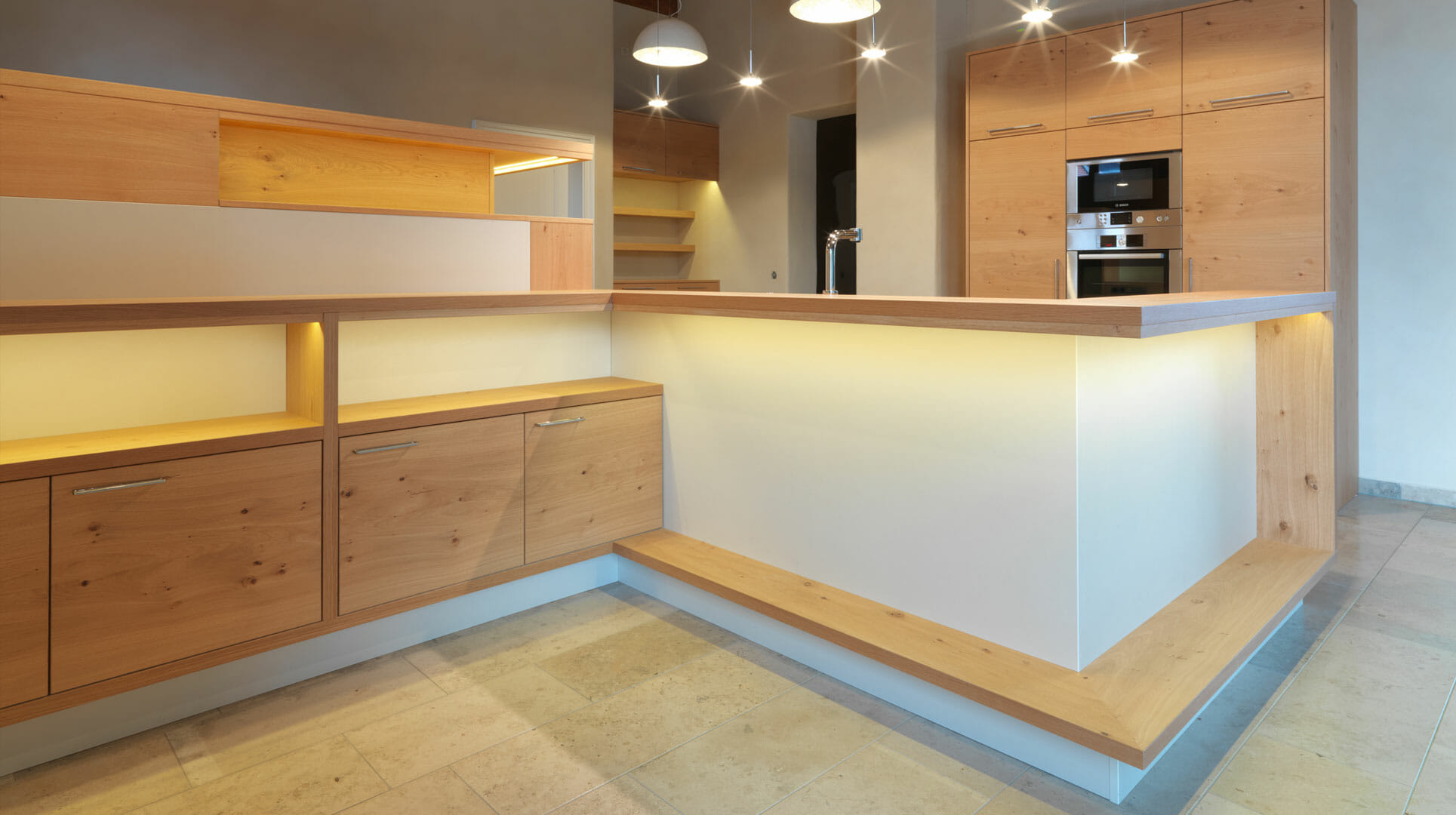 Moderne Massivholzkuche Aus Asteiche Diemeistertischler